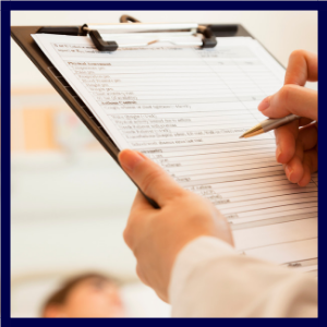 contract administration staffing firm clipboard