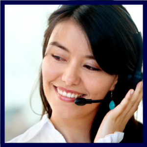 customer support training woman headset