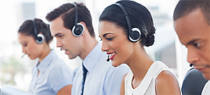 contract customer support agents on the phone