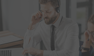 contract call center manager in a headset