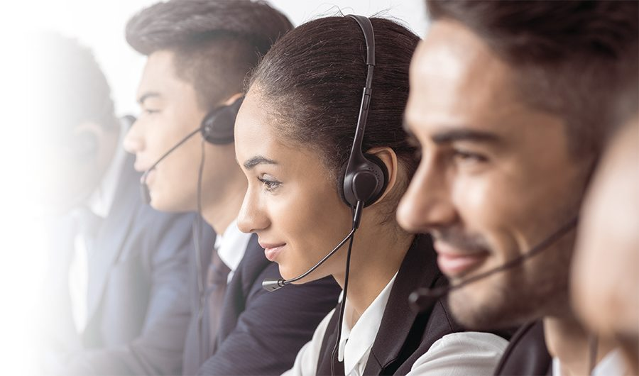 contract outbound support rep on the phone