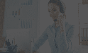 contract outbound support wearing a headset