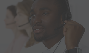 outbound support employee at a call center